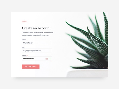Sign Up Form | 001  modal shadow create account succulent web sign up card ui ux form