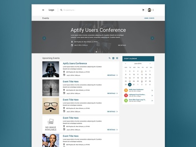 Everything's Flat! ui design dashboard events website e-commerce calendar cards material design simple clean