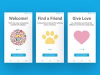 Adoption App UI Concept