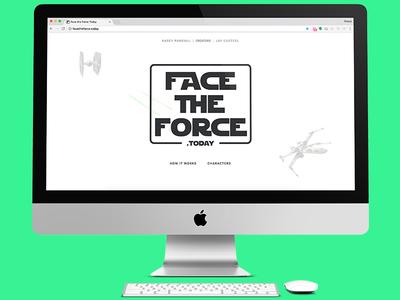 A new year. A new movie. A new design. logo responsive hero service ui ux update website design star wars