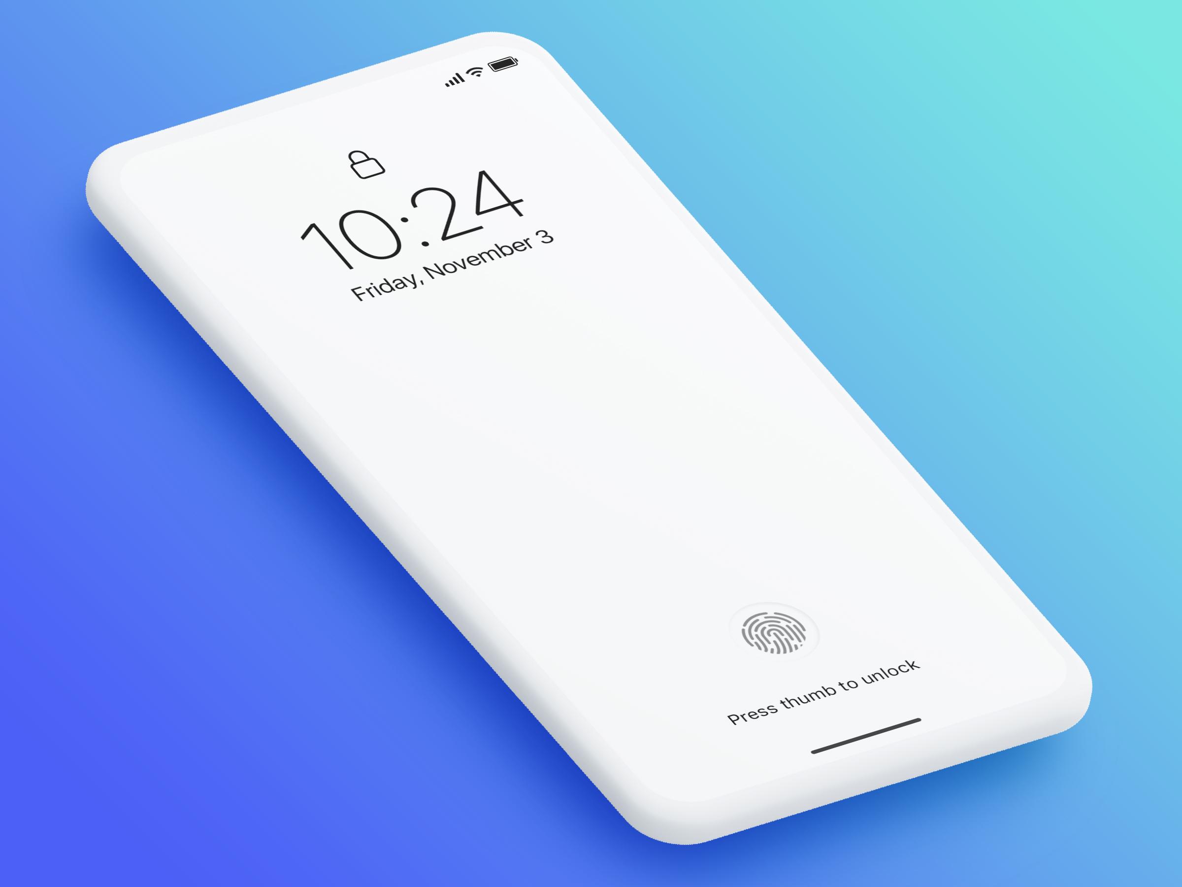 Kaseyrandall iphone concept future ui mobile fingerprint embedded dribbble3