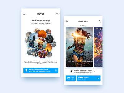 Daily UI Design: Movies Near You user experience movies user centered design color design mobile app inspiration ui  ux design ux ui