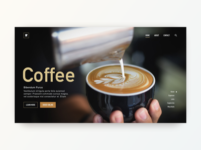 Daily UI Design: Coffee! icon typography user experience color theory inspiration web design website design ui design ui challange ux ux design uiux ui
