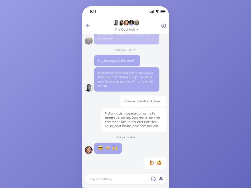Daily UI Design: GroupChat product design inspiration app design ios concept clean interface ux mobile material design user interface mockup user experience app design ui
