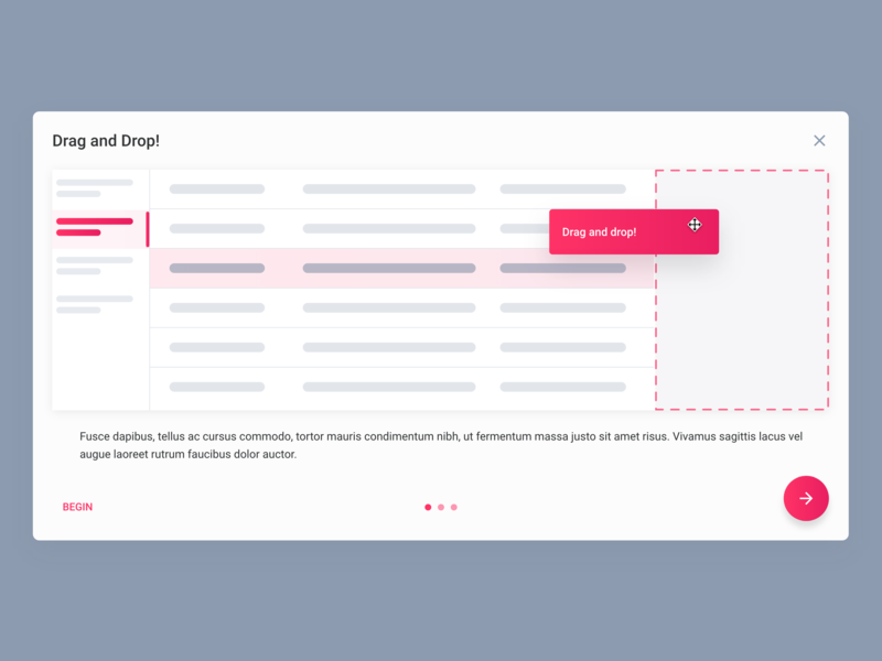 Daily UI Design: User On-boarding color gradient drag and drop onboarding clean inspiration product design interface mobile ux material design user interface mockup user experience app design ui