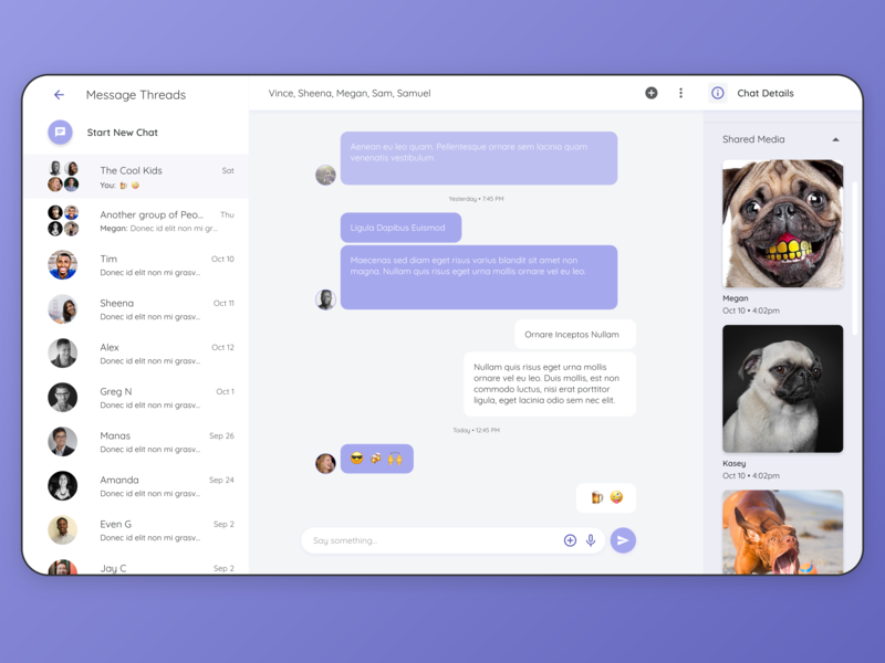 Daily UI Design: Group Chat clean inspiration message app message concept color app design product design ux interface material design user interface mockup user experience app ui design