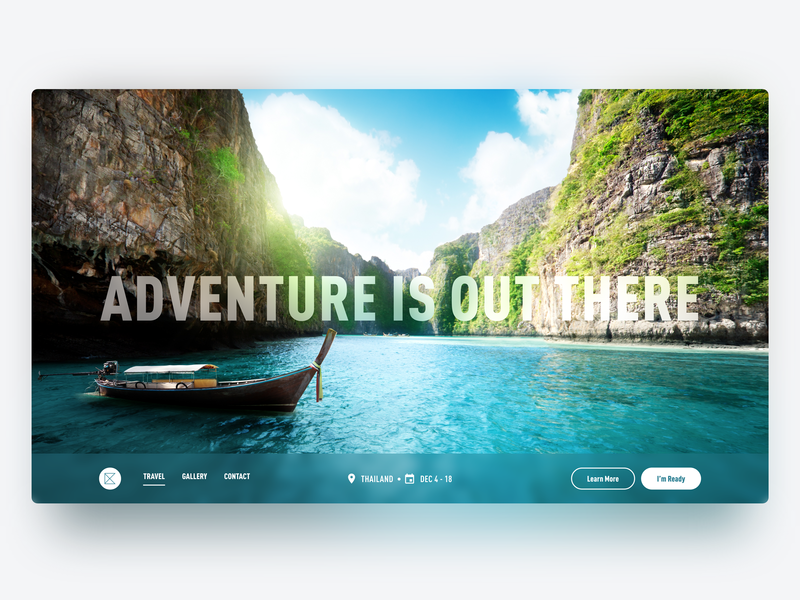 Daily UI Design: Travel Thailand! ui typography web app design product design concept inspiration interface mobile ux user interface mockup user experience design