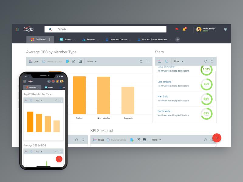 Responsive Data on Web and Mobile mobile app design web design inspiration data visualization dashboad product design material design mobile user interface mockup app user experience design ui