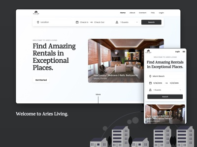 Find Amazing Rentals In Exceptional Places mobile design undraw whitespace web design website web uxdesign ui design user experience user interface ui