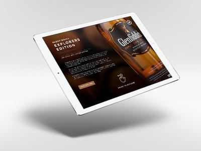 Glenfiddich Experimental Series Campaign glenfiddich ux ui interaction design branding