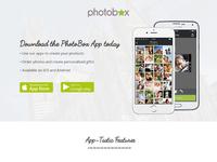 PhotoBox App Landing Page