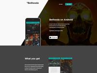 Bethesda App Landing Page