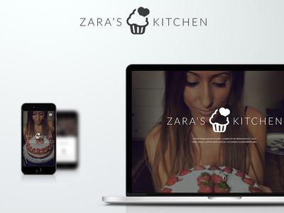 Zara's Kitchen web design ux ui branding