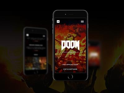 DOOM / Bethesda Landing Page bethesda doom web design ux ui branding