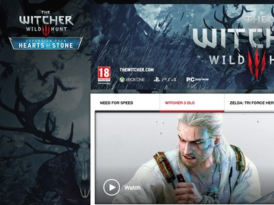 IGN Witcher 3 Takeover ign web design ux ui