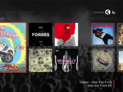 SoundCloud for Xbox One ux ui app xbox cloud sound