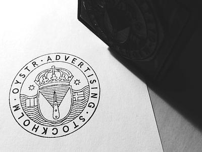 Oystr. Rubber Stamp rubber stamp advertising stockholm sweden rubberstamp