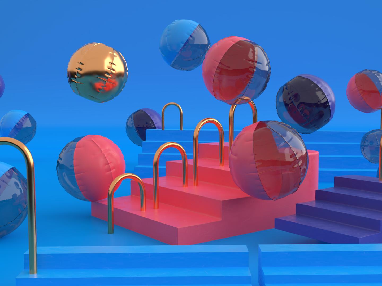 Inflatable materials vector sweden stockholm ui feedback cycles animation 3d art render illustration blender 3d 3d modelling