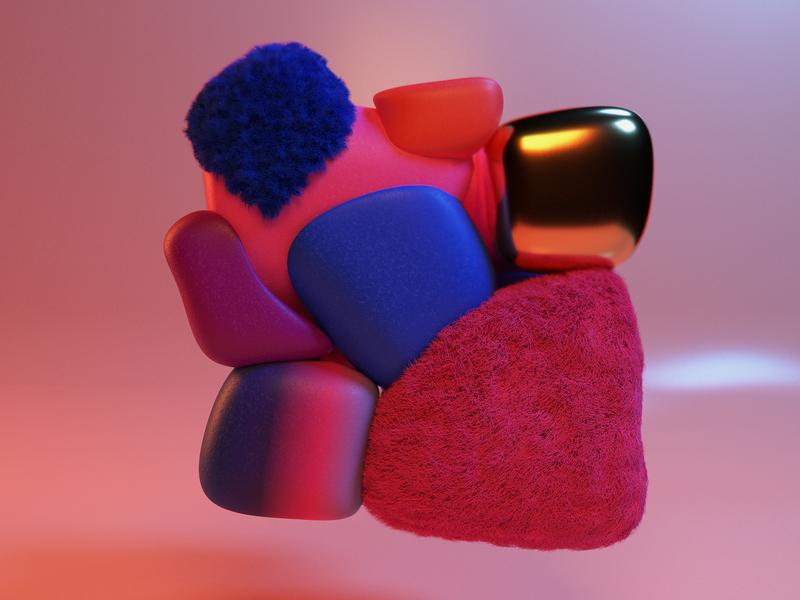 Soft Body Exploration render 3d art illustration design blender 3d modelling 3d stockholm