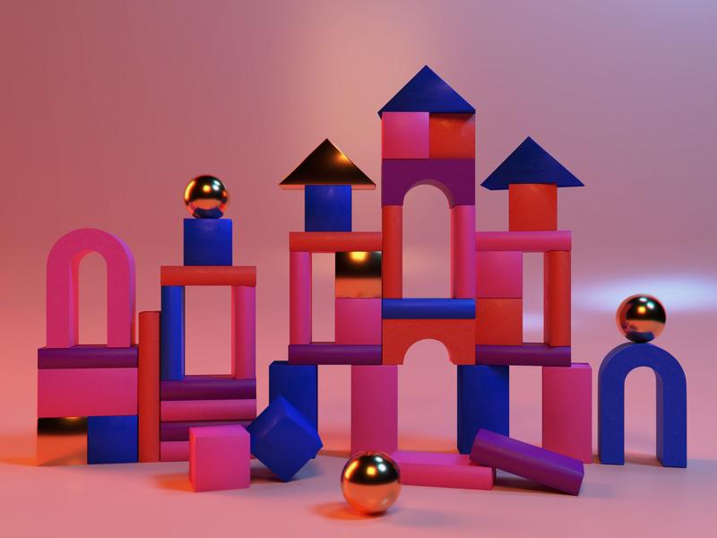 Shape & Color texture 3d art render illustration design blender 3d modelling 3d