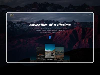 Adventuristic ui graphics graphicdesign uiux trip planner trip travel adventure nature typography unsplash uixdesign websites website concept website design website