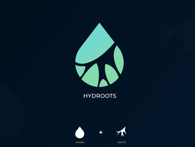 Hydroots logo design