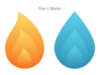 Fire & Water Icons