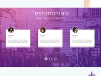 Testimonial section in website