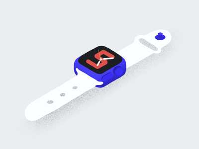 5 Years of Apple Watch color isometric procreate apple watch illustration
