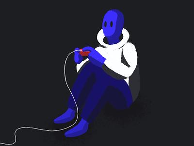 Gamer Illustration affinity designer design color illustration