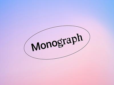 Monograph Communications Logo zangezi logo design minimal colour logo