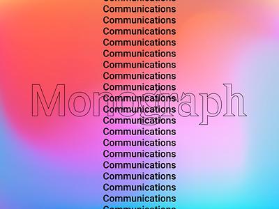 Monograph Communications Typography Exploration logodesign design outline brutalism minimal logo color colour
