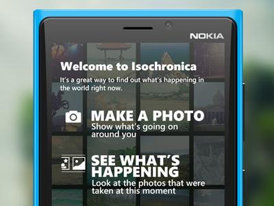 Isochronica intro screen