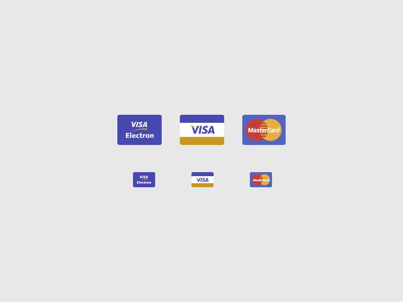 Credit Card Icons bank bank cards bank card card cards visa visa electron mastercard flat