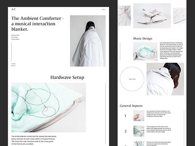 Ambient Comforter e-commerce webdesign landing web ui ux