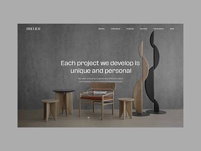 BREUER   Animation furniture interior video motion landing page landing webdesign website ux ui