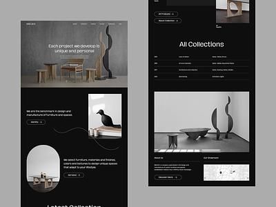 BREUER | Furniture Showroom Website grid layout ui ux landing page landing website showroom interior furniture