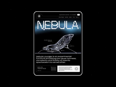 Nebula | Animation furniture web landing sci-fi futuristic webdesign website ui