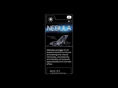 Nebula   Responsive Animation animation furniture sci-fi futuristic mobile ui