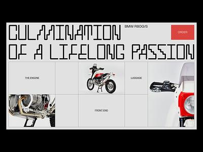 r80g/s minimalist design landing web ui