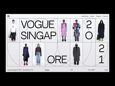 Fashion Showroom minimalistic fashion webdesign web ui