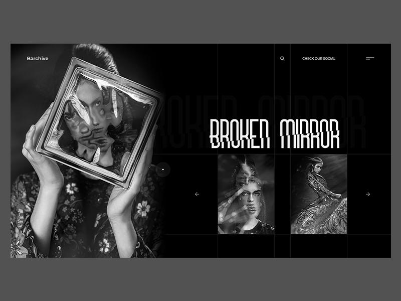 Barchive fashion photography white black ux ui