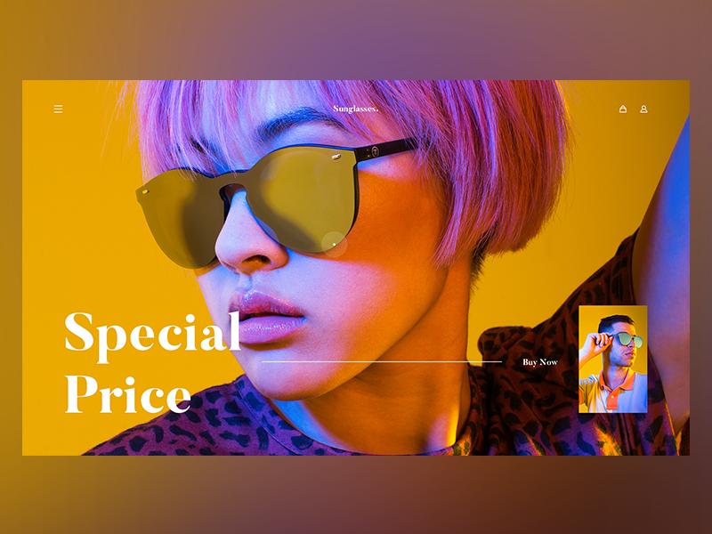 Sunglasses. color web sunglasses photography ux ui