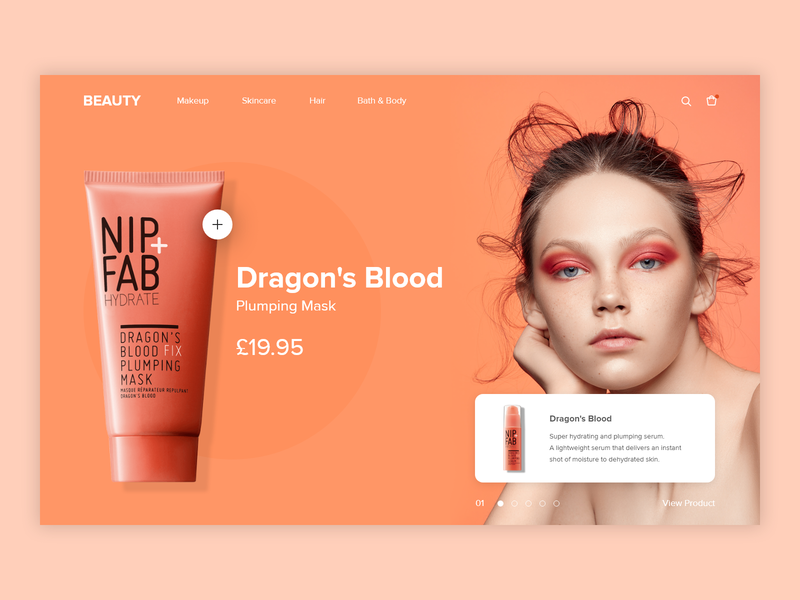 Cosmetics Store e-shop website ui ux e-commerce cosmetics beauty