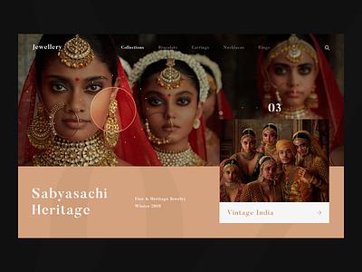 Jewellery jewellery e-commerce web fashion ui ux