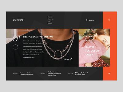 Interesi web photography fashion landing webdesign ux ui