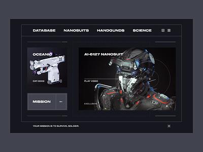 cp77 landing webdesign web ux ui cyber robots nano