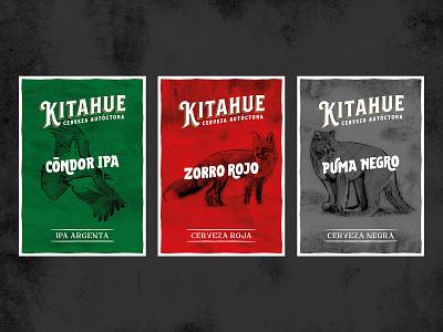 Kitahue Posters branding illustration animal craft beer beer brewery design poster