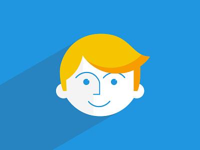 Flat Boy Slim flat boy guy kid child happy yellow blue