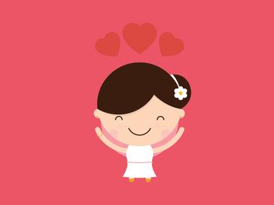 Little Bride bride wedding avatar character cake invite vector groom